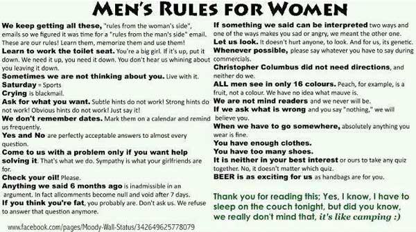 Mäns regler för kvinnor