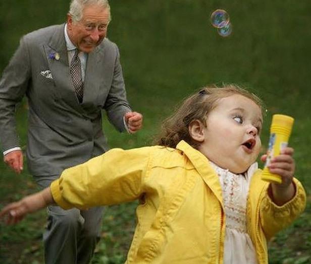 Prins Charles jagar flicka