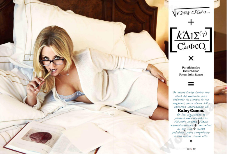 Kaley Cuoco i Esquire