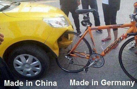 Kinesisk vs tysk kvalitet