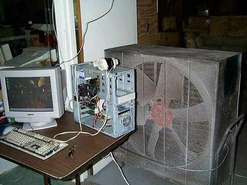 En fet datorfläkt