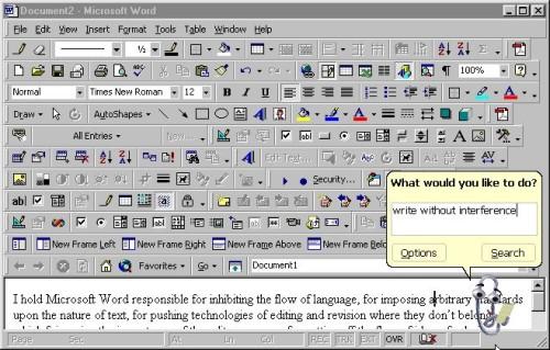Roligt interface i Word 97