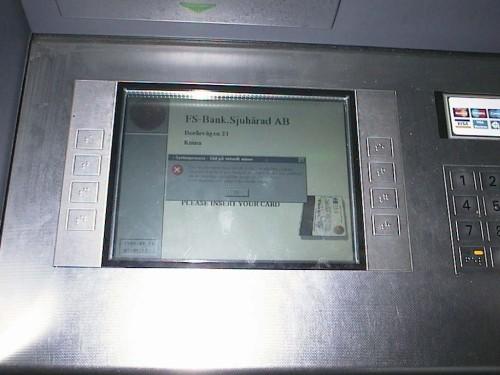 Bugg i uttagsautomat