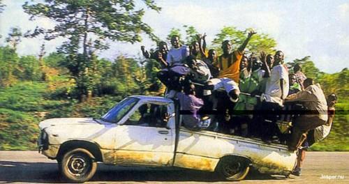 Brist på bilar i Afrika