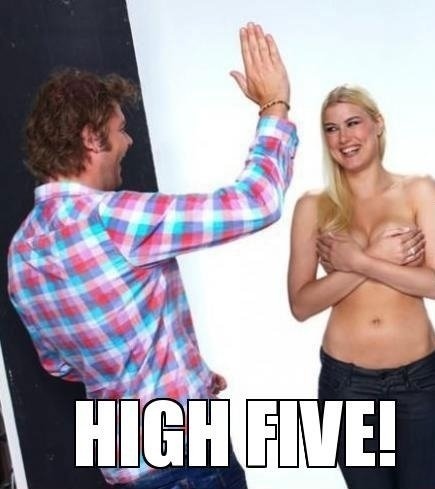 Let's high five