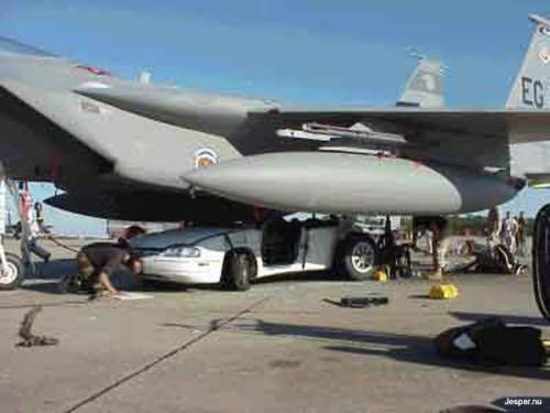 Snygg landning med flygplan