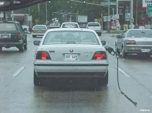 Kvarglömd handtag till bensinpump
