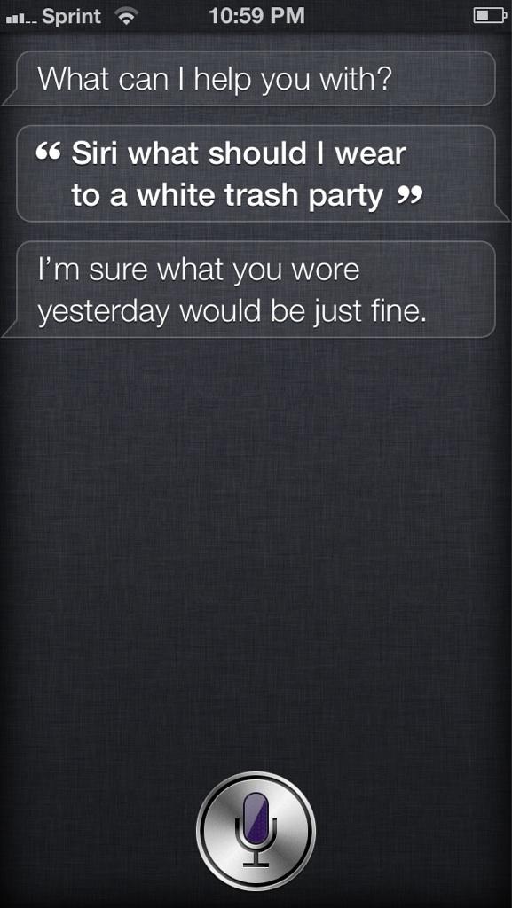 Siri är inte trevlig