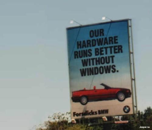 BMW sågar windows