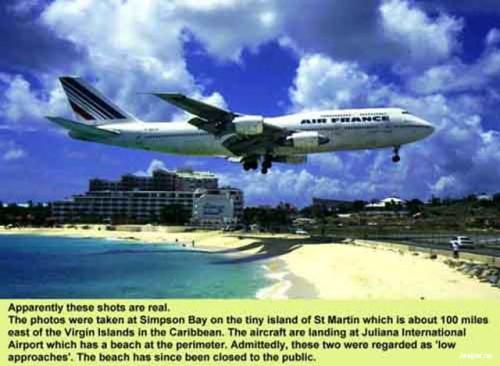 Rolig bild på flygplan