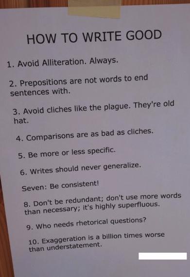 Hur du skriver bra