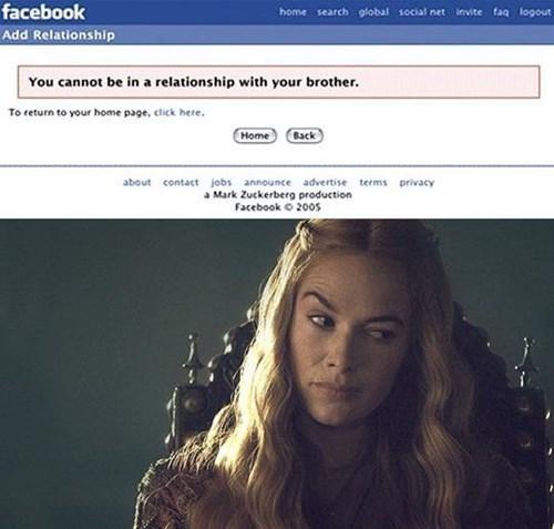 Problem med relationship status på Facebook..