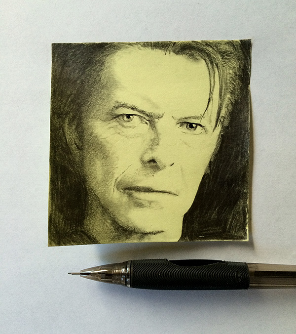 RIP David Bowie post-it