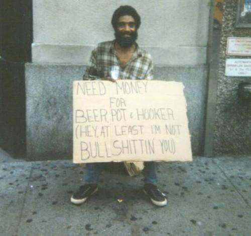 Ärlig fattig snubbe