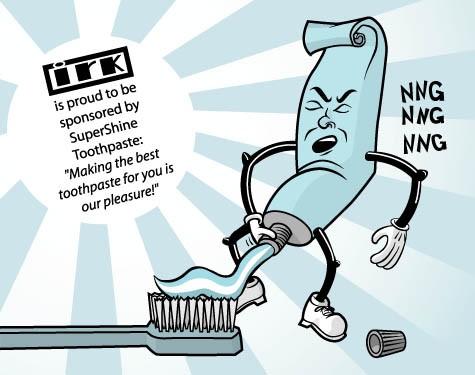 Sugen tandkrämsreklam