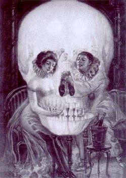 Två glada människor eller en deppig döds