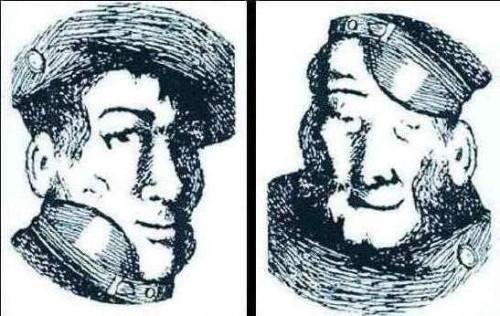 Samma bild om du vänder på den