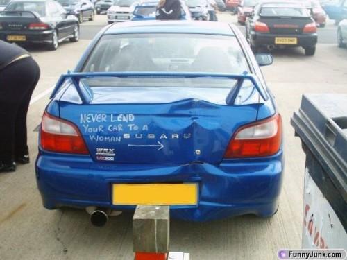 Låt inte tjejen låna bilen