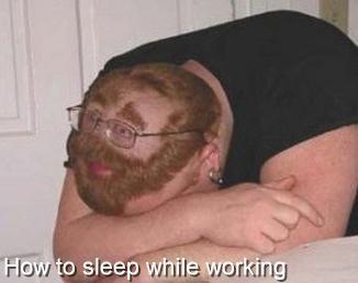 Frisyr för den som vill sova på jobbet