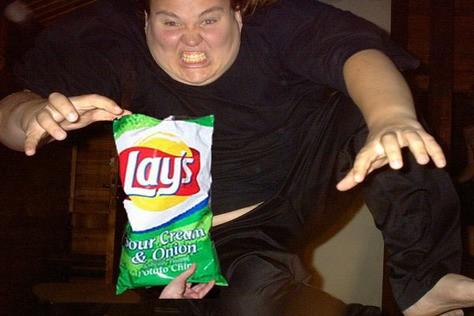 Sjukt sugen på chips