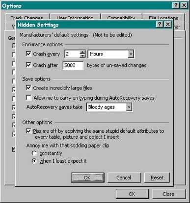Dolda inställningar i Windows