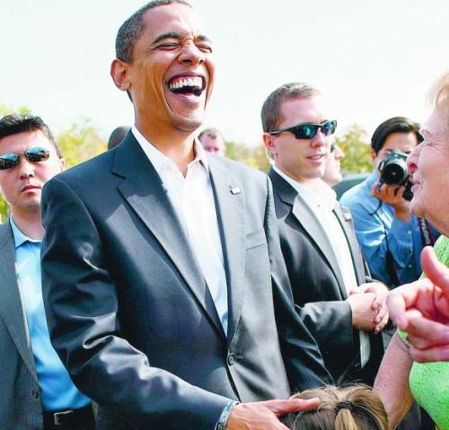 Obama och ung tjej