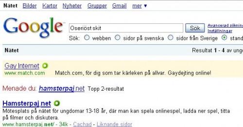 Google har aldrig fel