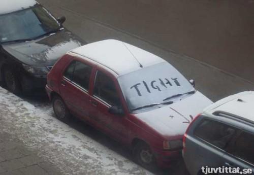 Jobbigt tight parkering