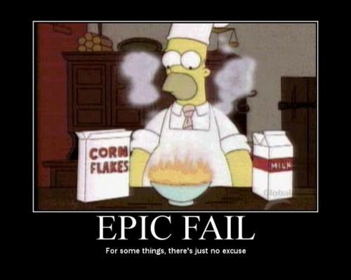 Homer äter flingor