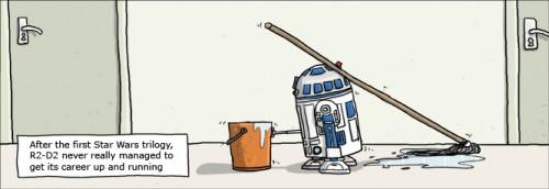 R2-D2 jobb efter Star Wars