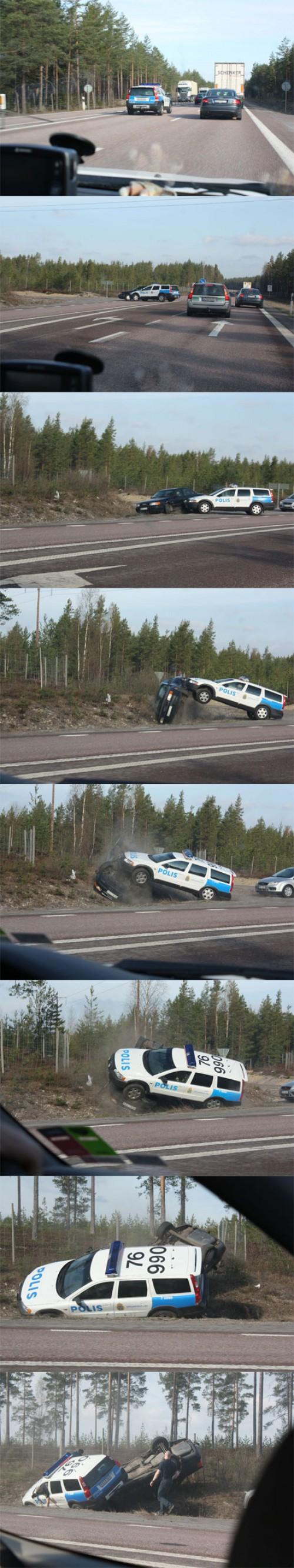 Polisen välter Audi