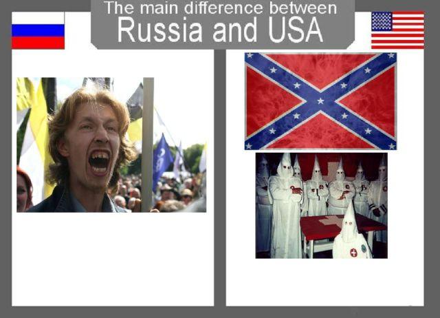 Skillnader mellan Ryssland och USA