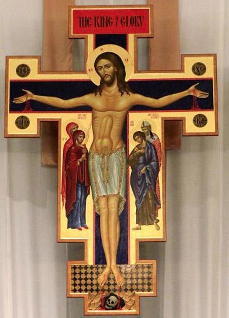 Vad har Jesus på magen?