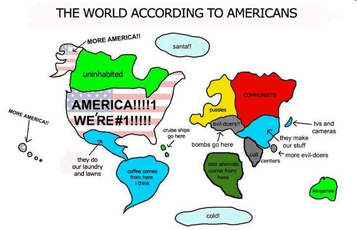USA om världen
